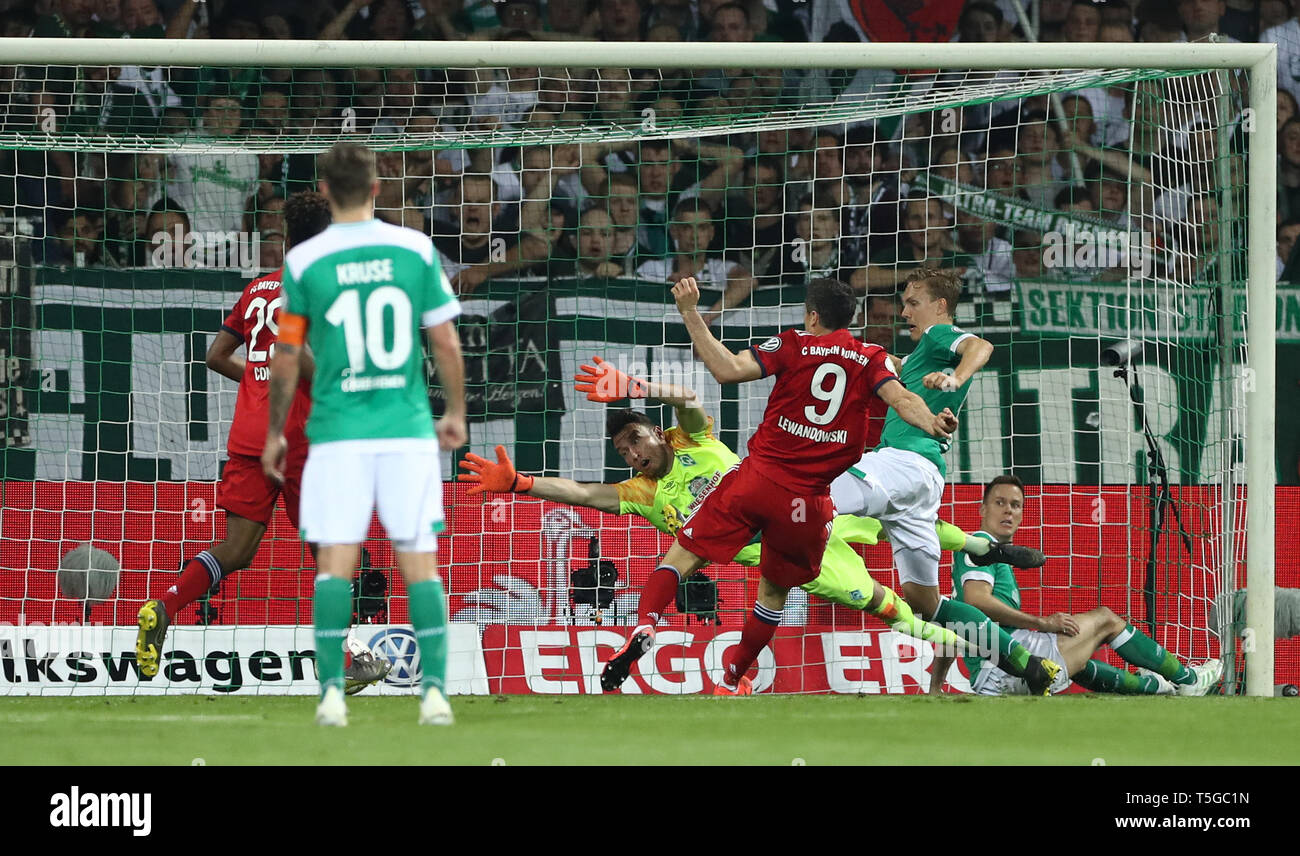 Bremen, Germany  24th Apr, 2019  Soccer: DFB Cup, semi-final