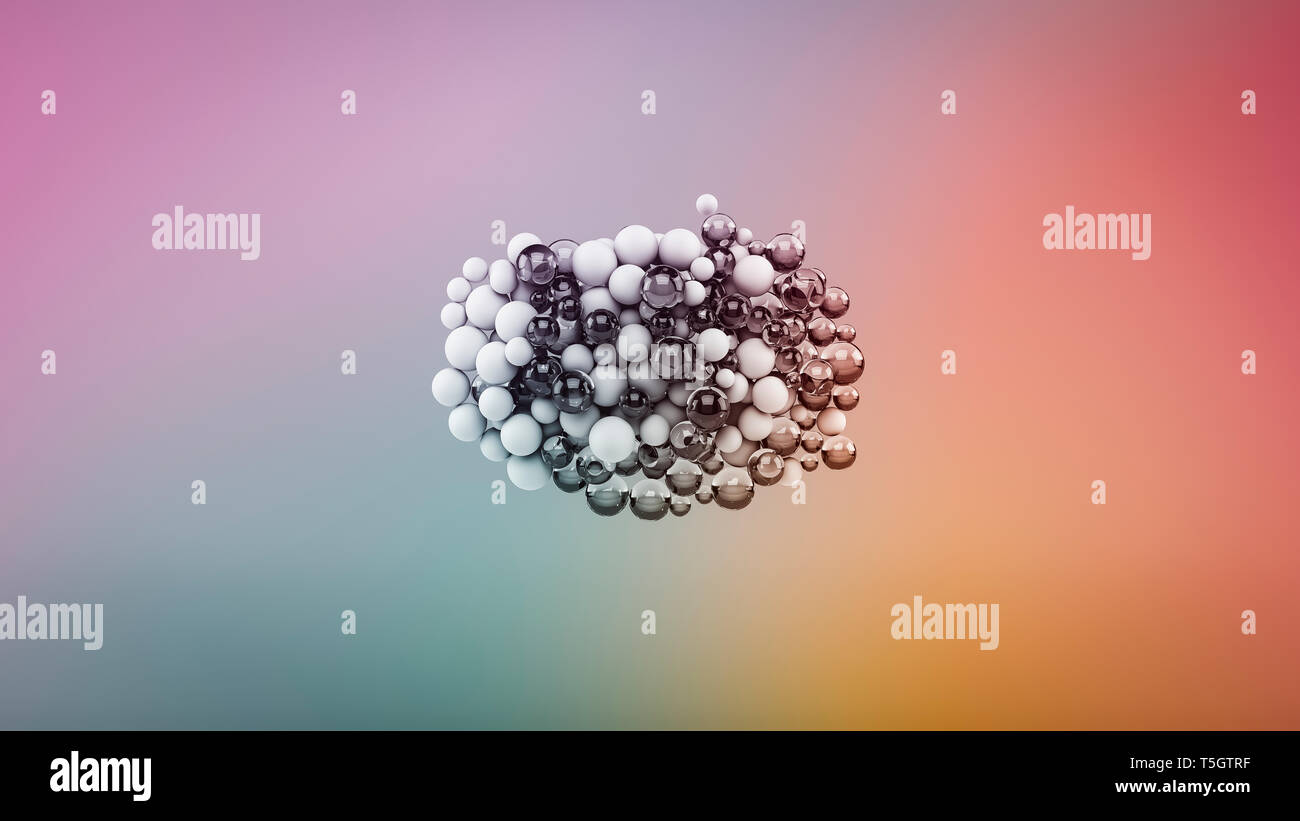 Abstract bubbles on multi-colored background - Stock Image