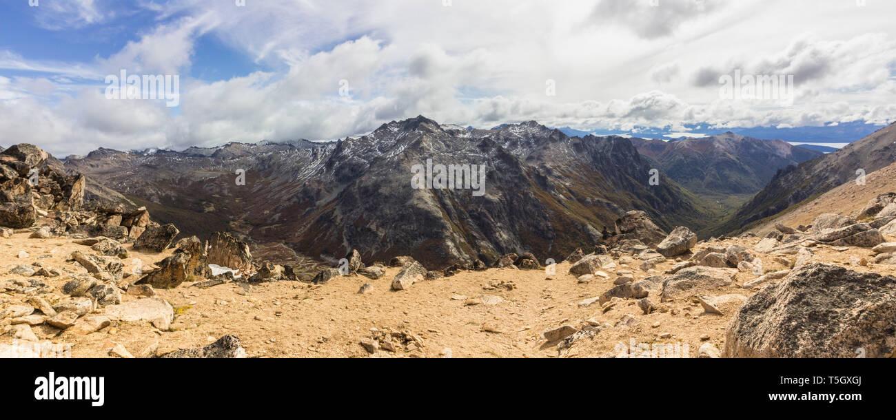Panoroma - Hiking Parque Nacional Nahuel Nuapi, RIo Negro, Argentina - Stock Image