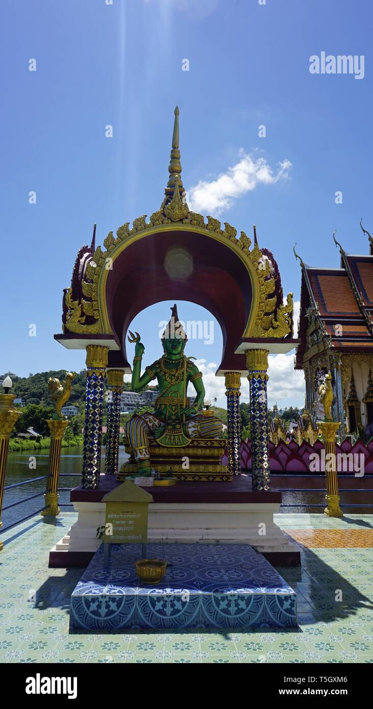 chinese plai laem temple on koh samui in thailand Stock Photo