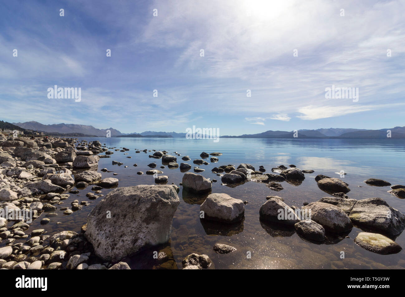 Bariloche - Lake Nahuel Huapi - Stock Image