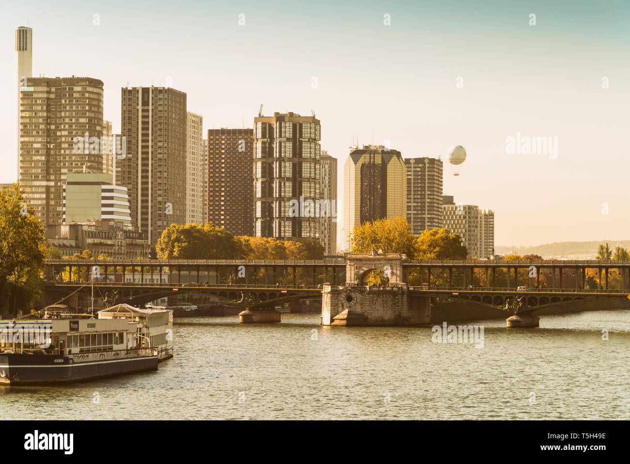 France, Paris, view to quarter Grenelle at Rive Gauche - Stock Image