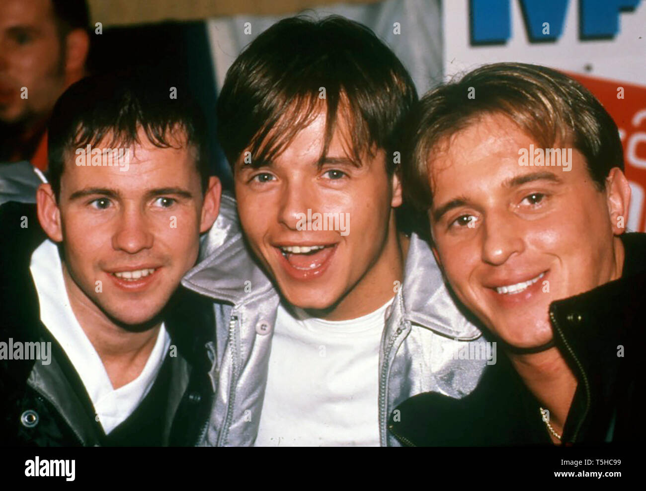 911 English pop group in April 1997 - Stock Image