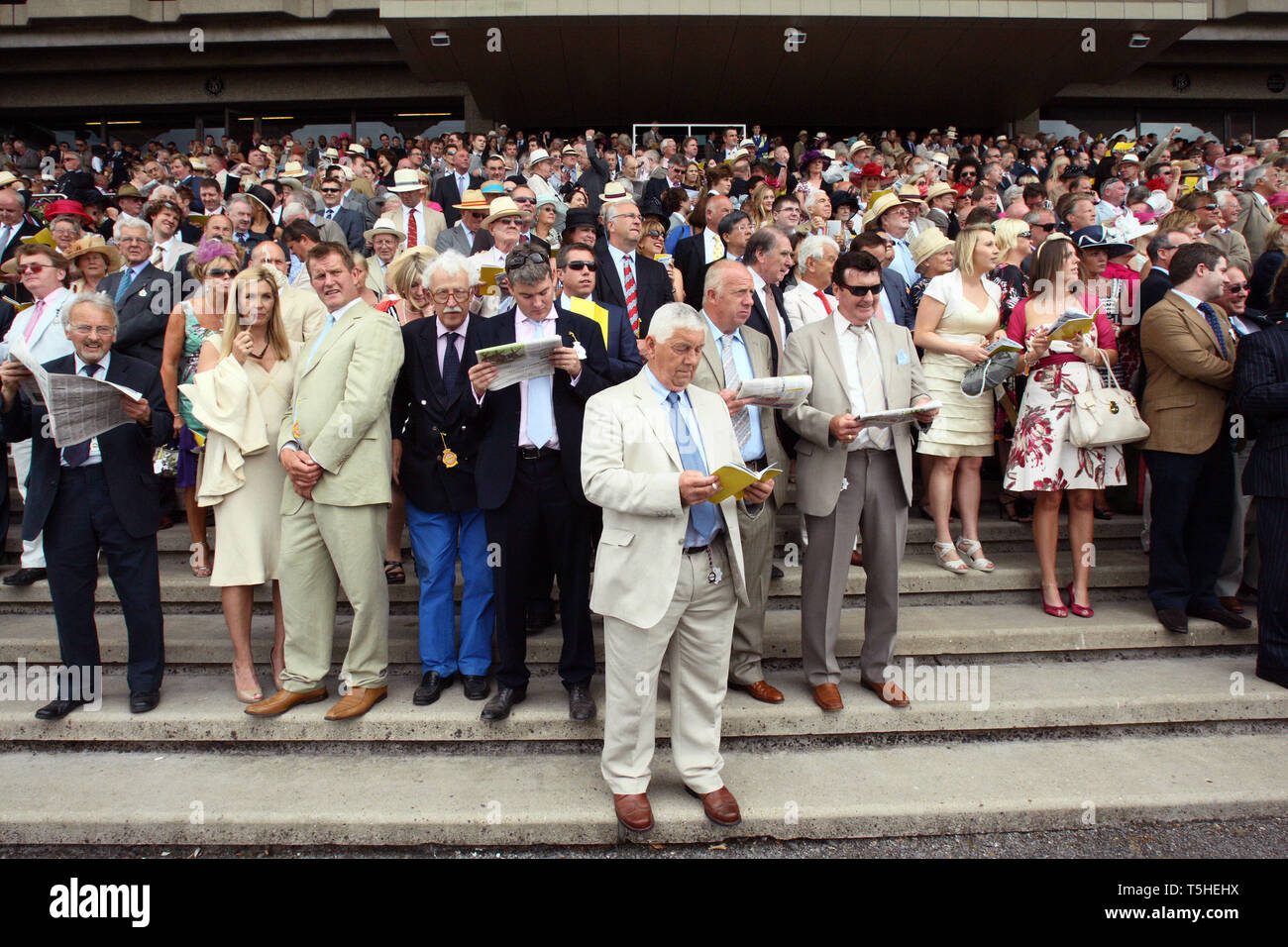 Punters at Goodwood racecourse. 29.7.2010. Stock Photo