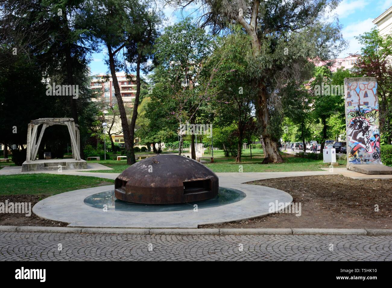 Examples of communist history Tirana Albania - Stock Image