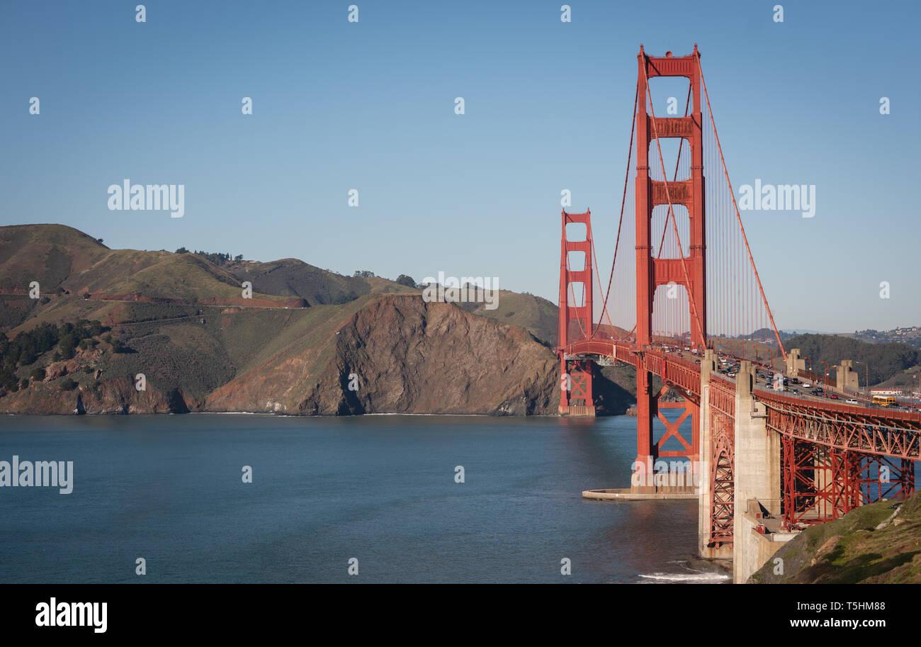 Beautiful photography of golden gate bridge - Stock Image