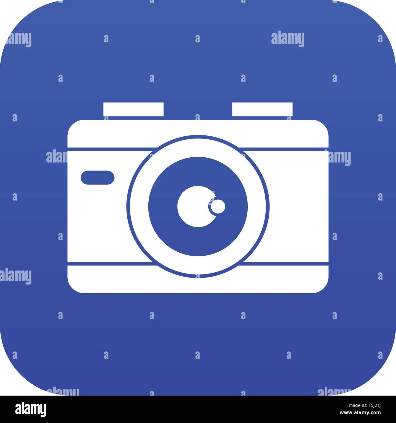 Photo camera icon digital blue - Stock Image