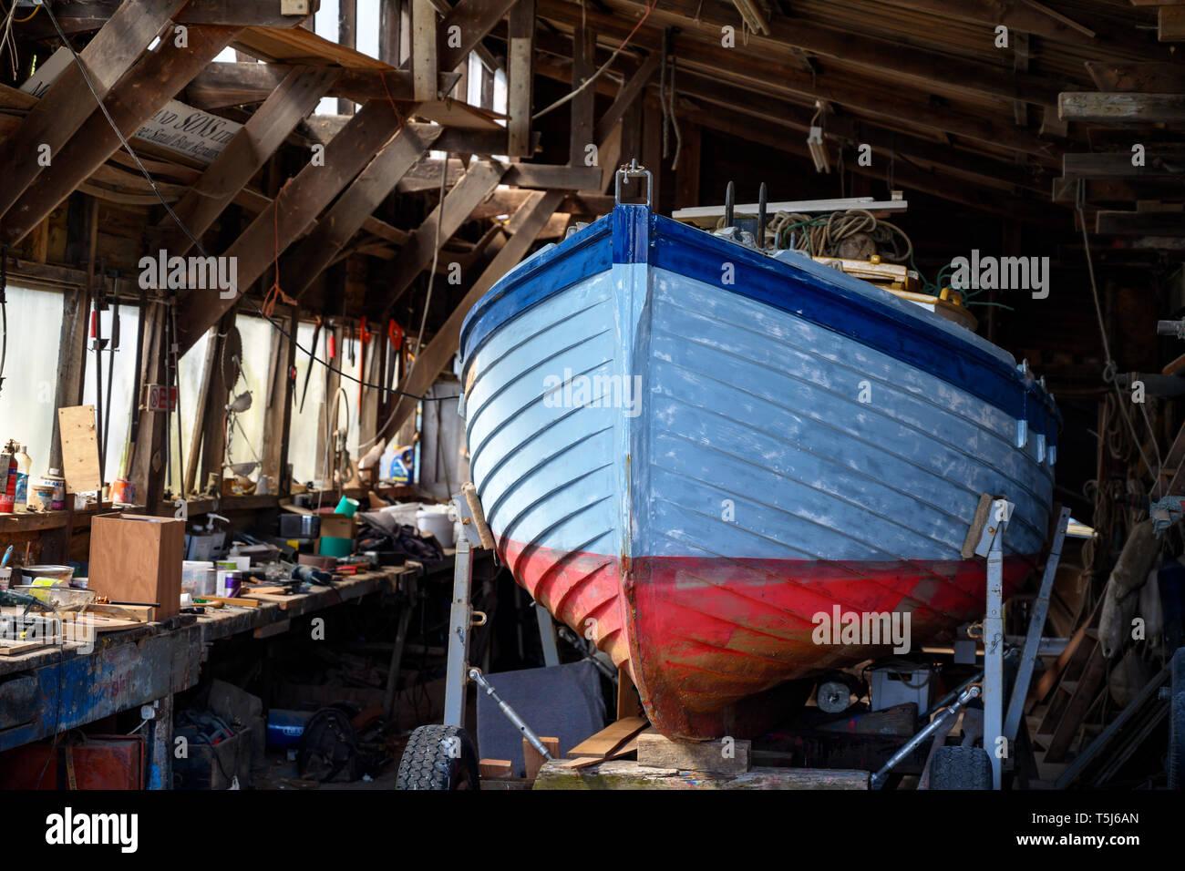 Woodbridge boatyard Suffolk - Stock Image