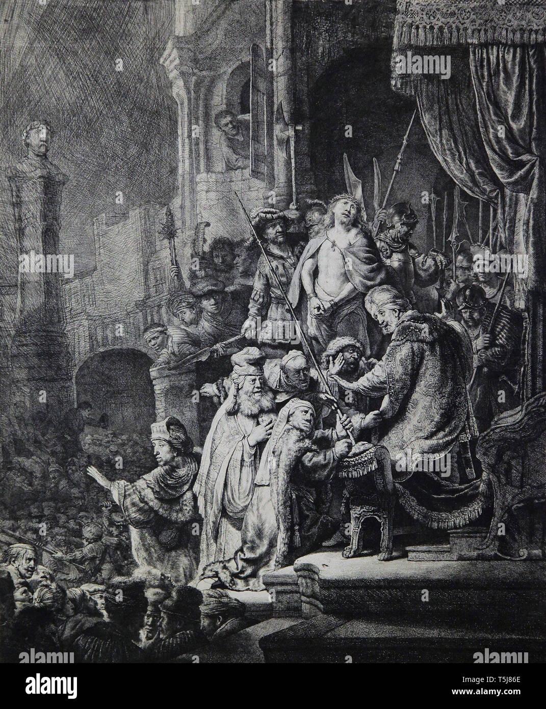 Christ before Pilate 1636 Rembrandt van Rijn - Stock Image