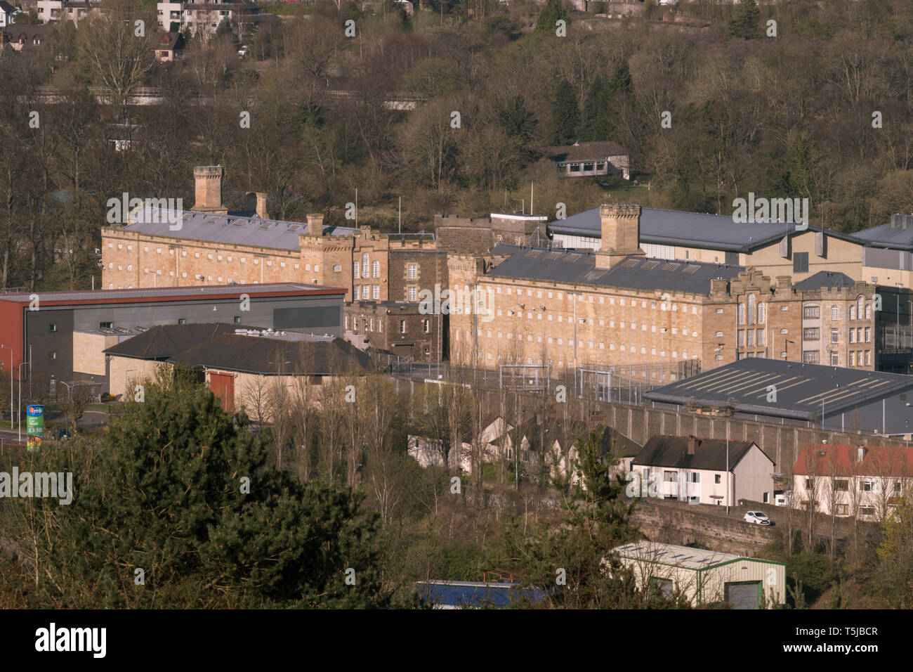 View of Perth Prison in Spring sunlight - Stock Image