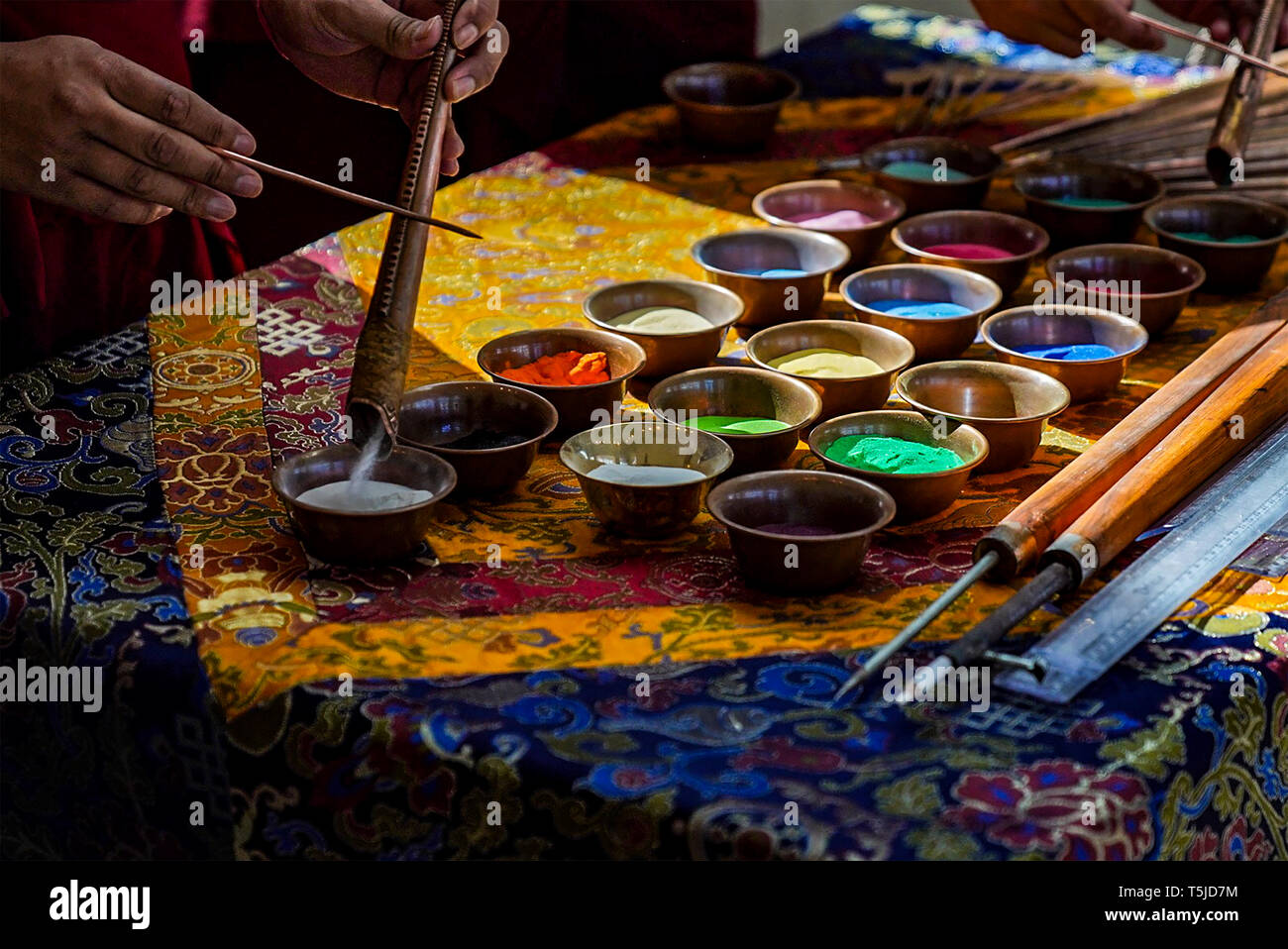 Tibet Monk art - Stock Image