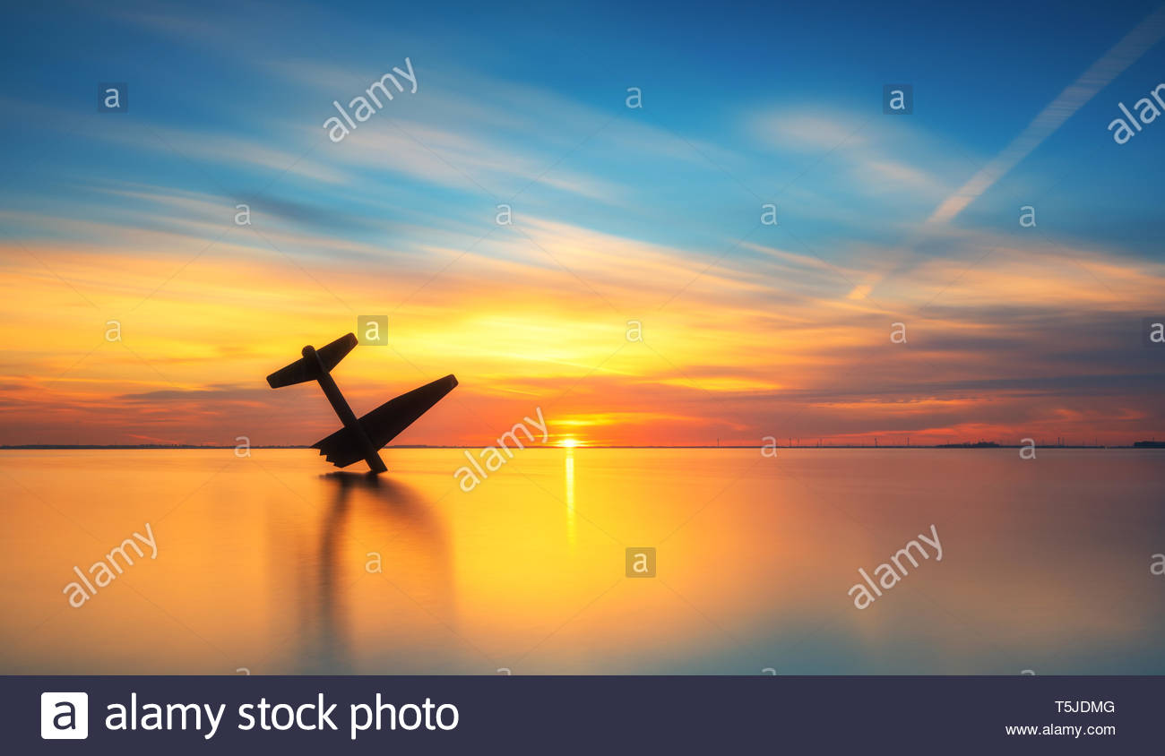 Airplane monument World War II - Stock Image
