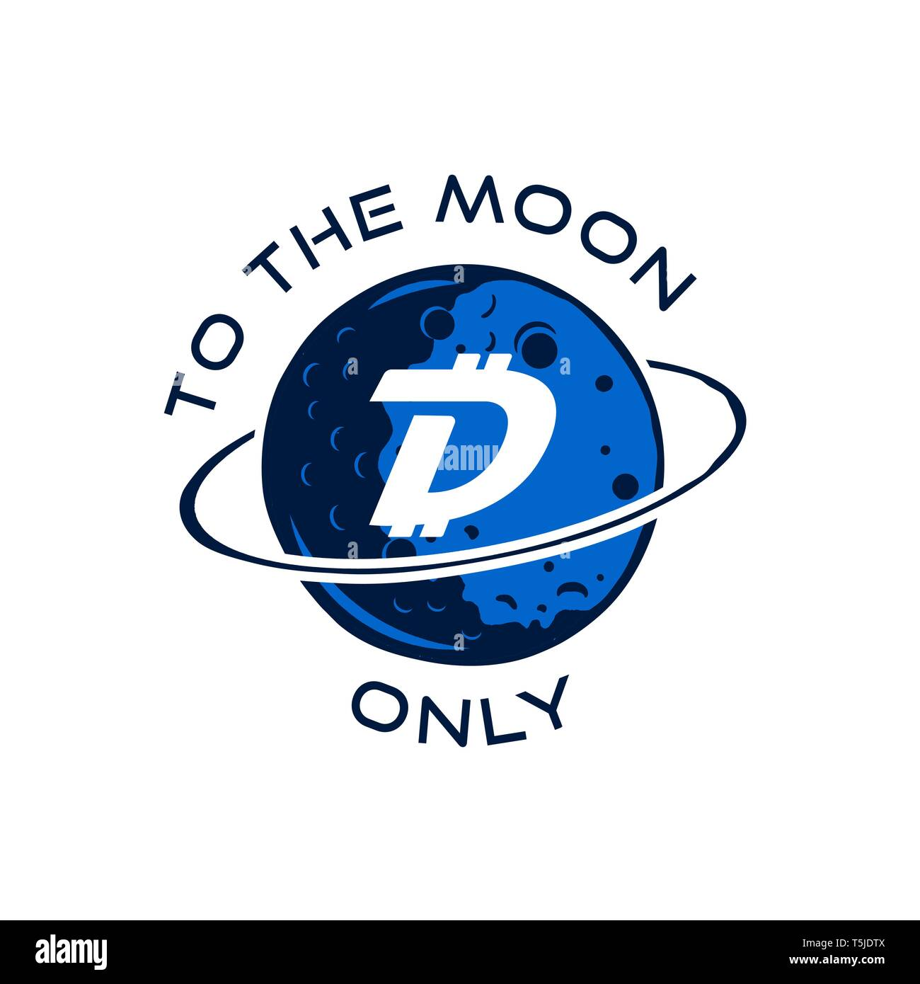 Digibyte badge concept  Digital asset DGB  To the moom only