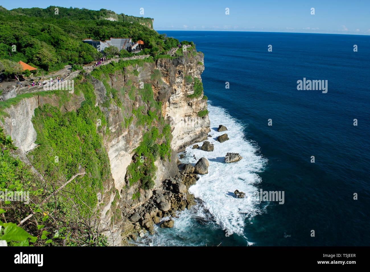 The Amphitheatre on the cliff top at Uluwatu Temple (Pura Luhur Uluwatu) on the Bukit Peninsula in Bali, Indonesia Stock Photo