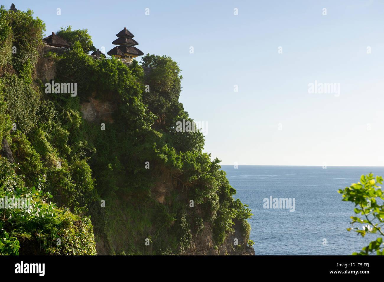 A view of Uluwatu Temple (Pura Luhur Uluwatu) on the Bukit Peninsula in Bali, Indonesia Stock Photo