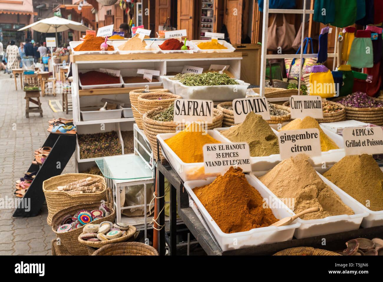 Morocco, Marrakesh, Medina, bazar Stock Photo