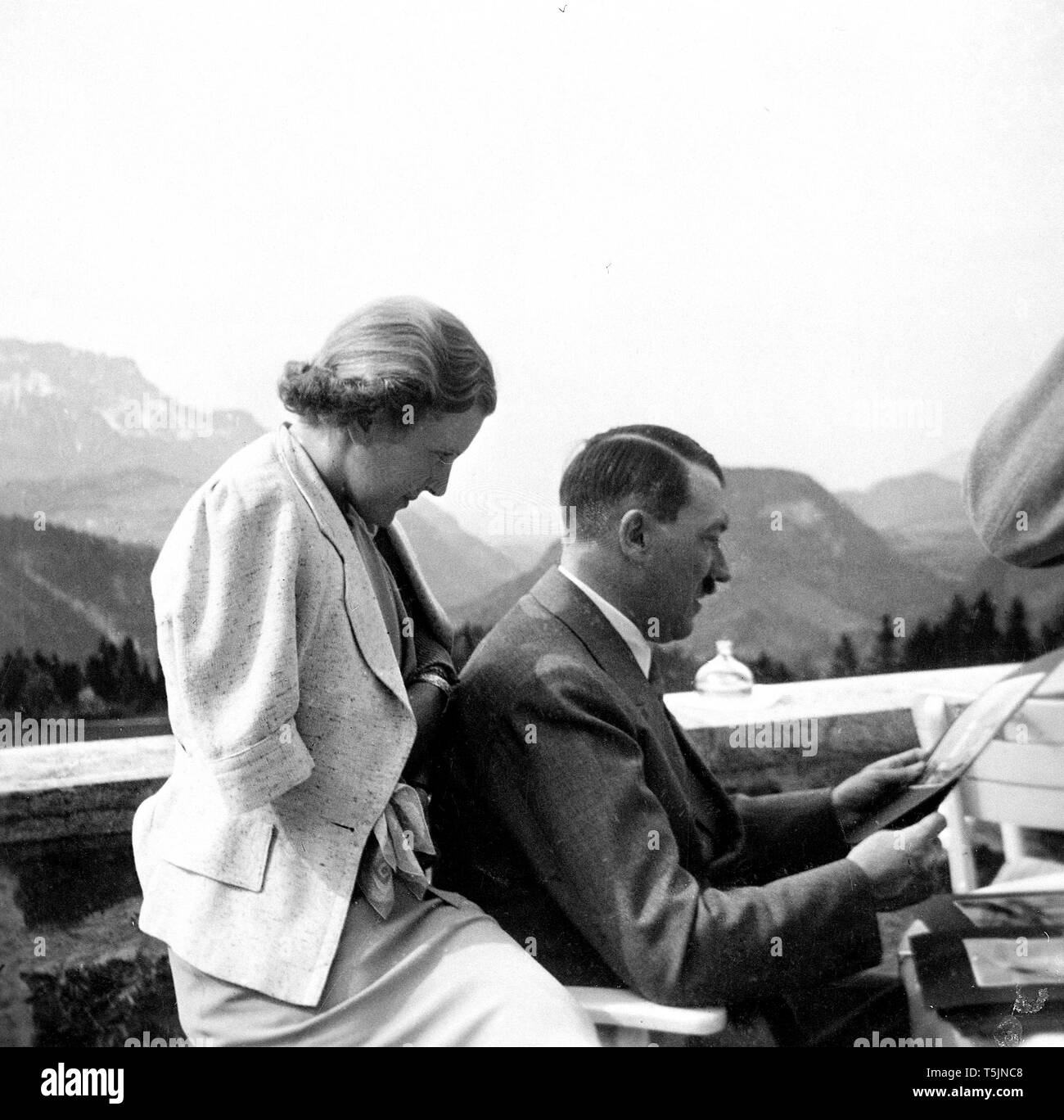 Eva Braun Collection (album 3) - Candid photo of German Nazi leader Adolf Hitler ca. late 1930s or early 1940s - Stock Image