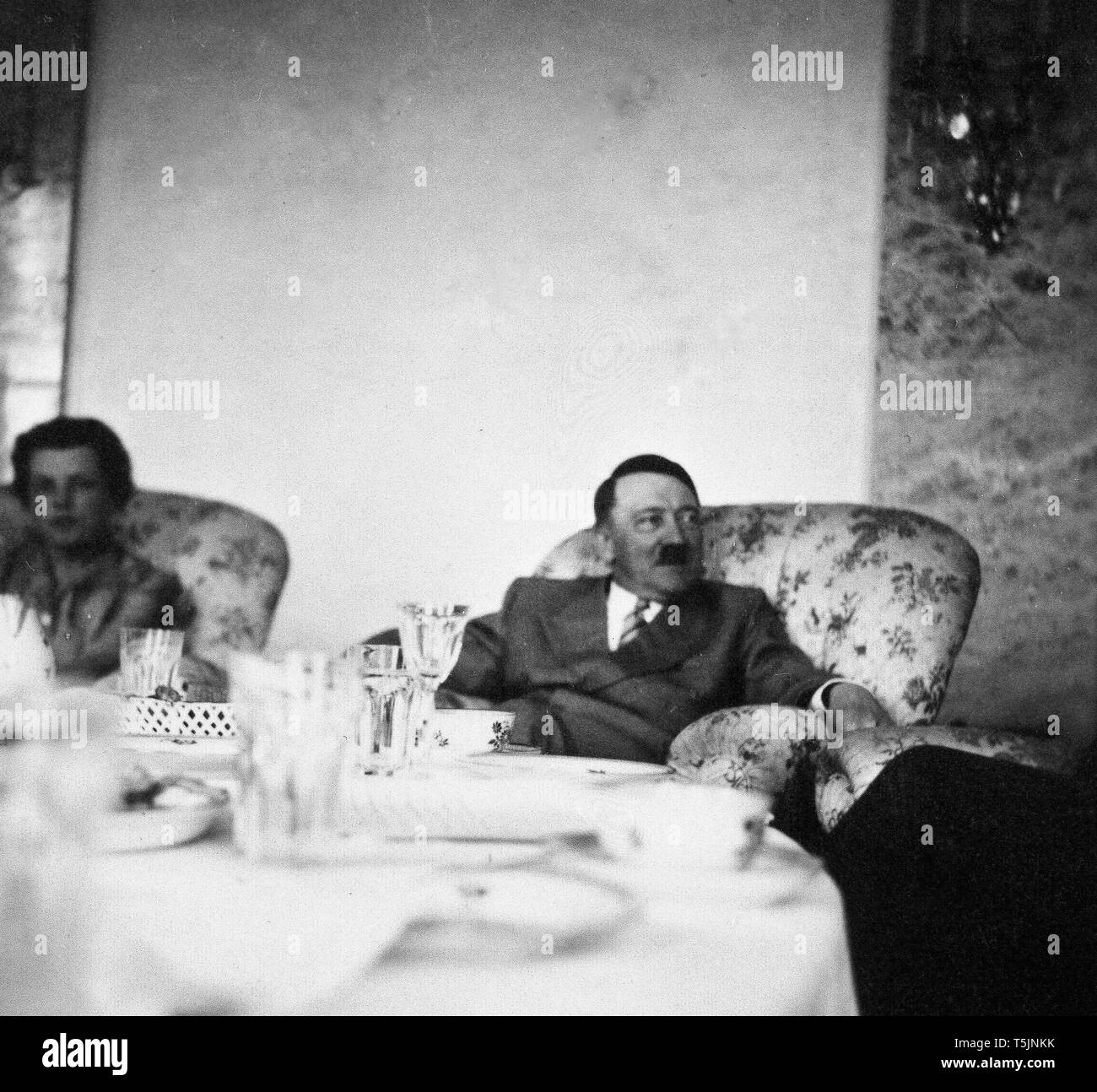 Eva Braun Collection (sest) - Candid photograph of Adolf Hilter ca. late 1930s or early 1940s) - Stock Image