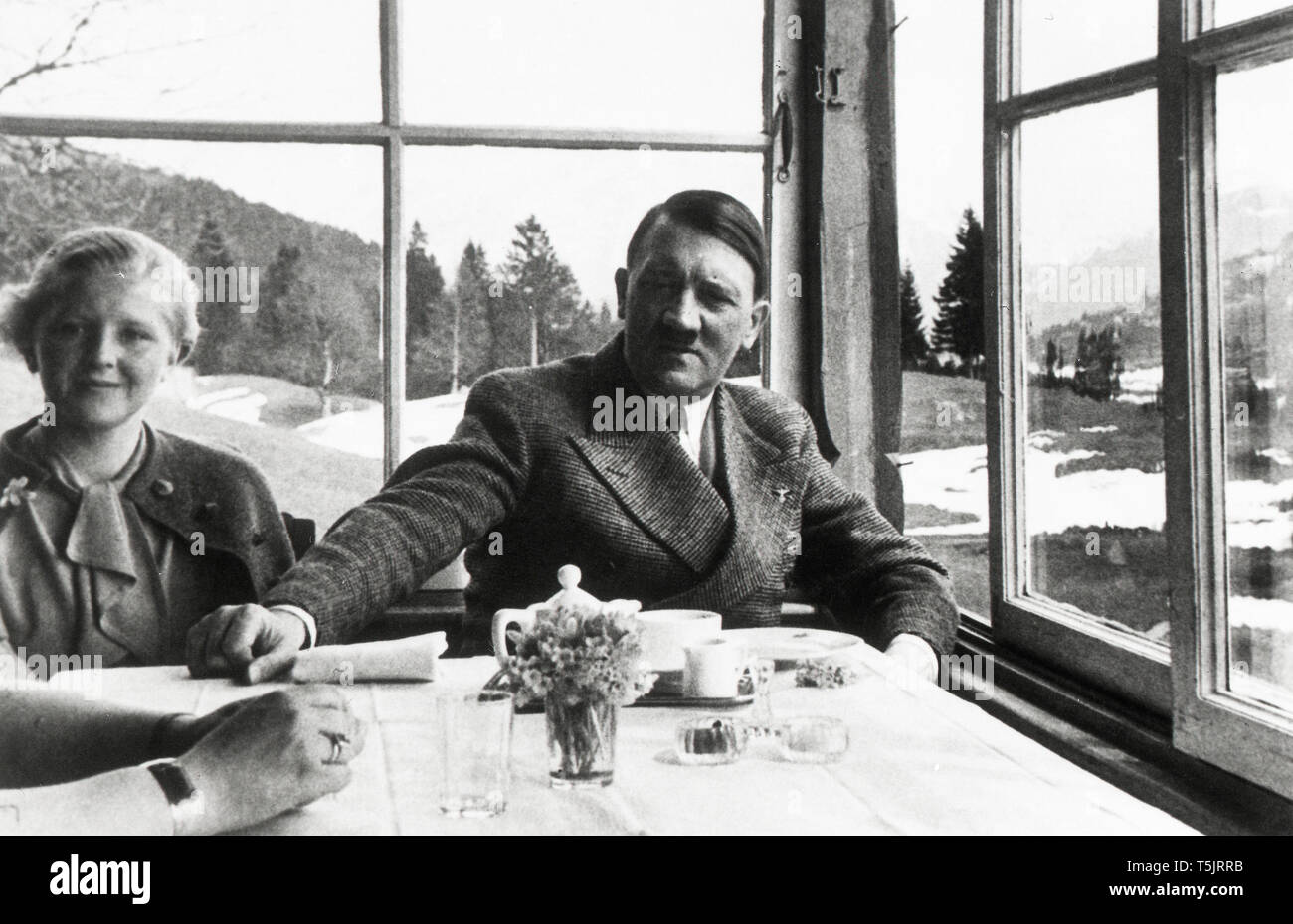 Eva Braun Collection (devet) -  Candid photo of Adolf Hitler ca. late 1930s or early 1940s - Stock Image