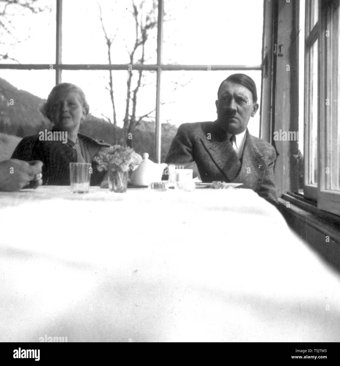 Eva Braun Collection (album 29) - Candid photo of Adolf Hitler ca. late 1930s or early 1940s - Stock Image