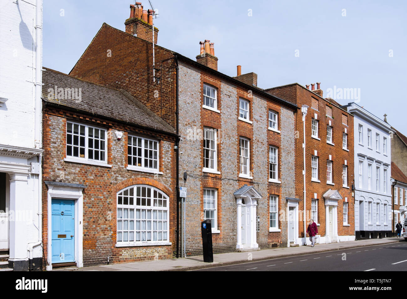 Georgian buildings in West Street, Chichester, West Sussex, England, UK, Britain Stock Photo