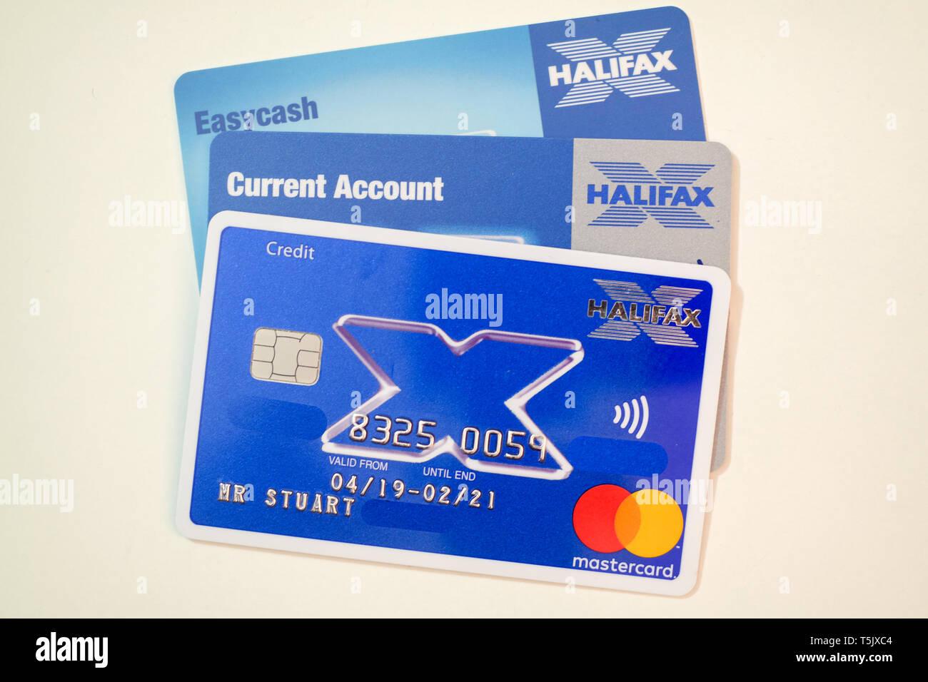 Halifax Bank Cards Stock Photo Alamy
