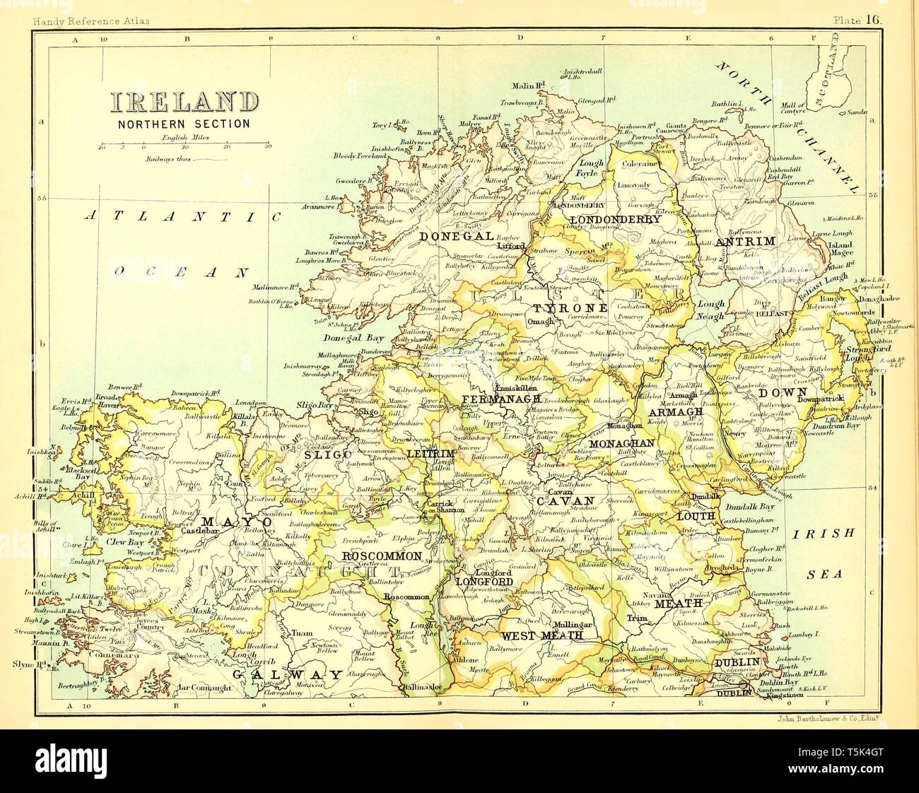 Map Of Ireland Book.Beautiful Vintage Hand Drawn Map Illustrations Of North Ireland From