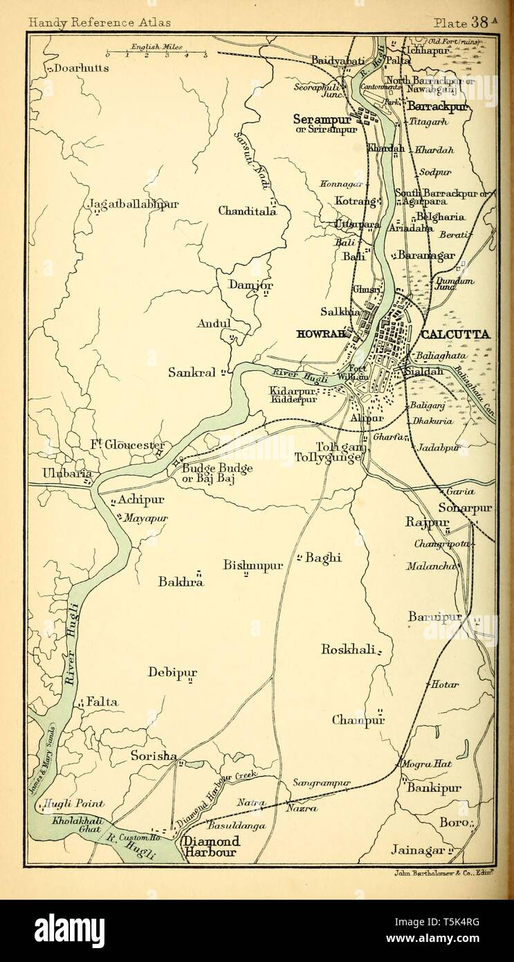 Old Map Of Calcutta Stock Photos & Old Map Of Calcutta Stock Images Calcutta Map on