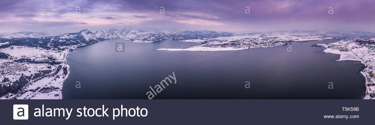 Aerial photography of dam Studen Kladenec. - Stock Image