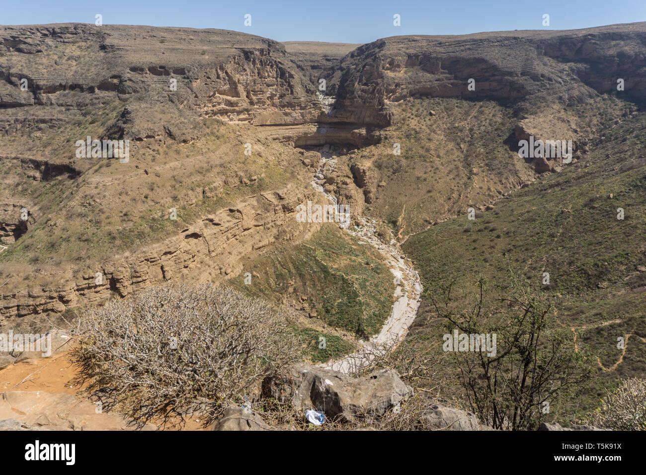 Teeq cave and Tawi Ateer Sinkhole, Dhorfar, Oman Stock Photo