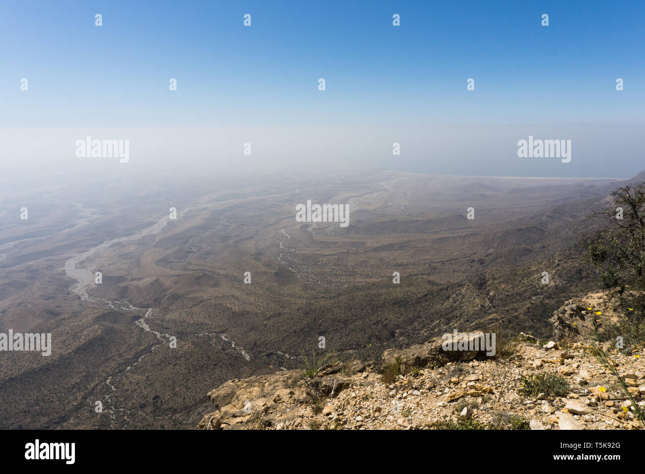 Jabal Samhan viewpoint, Dhorfar, Oman Stock Photo
