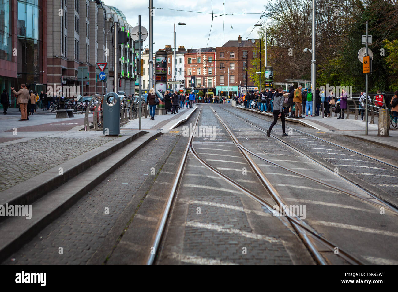 Dublin, Ireland – March 2019. Streets and buildings of historical city Dublin Stock Photo