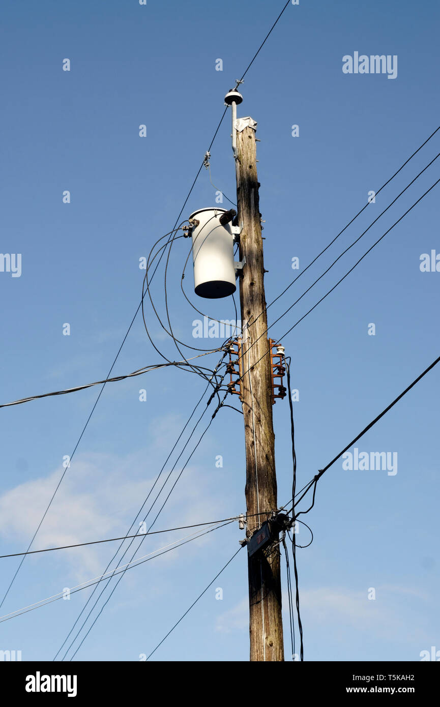 Telephone Poles And Wires Stock Photos & Telephone Poles And