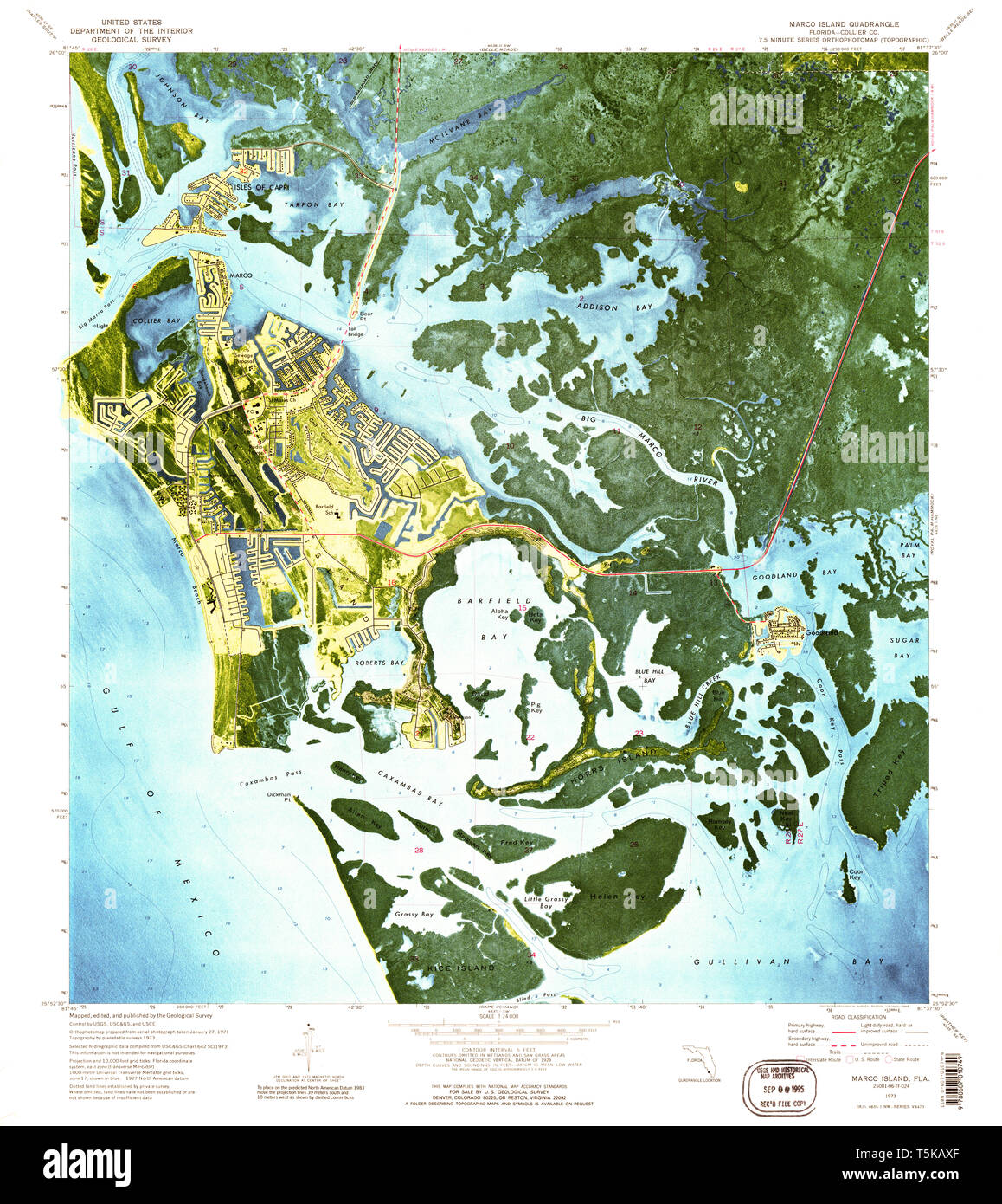 USGS TOPO Map Florida FL Marco Island 347342 1973 24000 ...