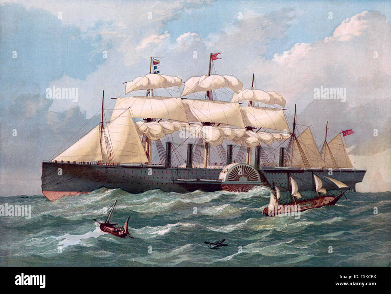 SS GREAT EASTERN  about 1862 - Stock Image