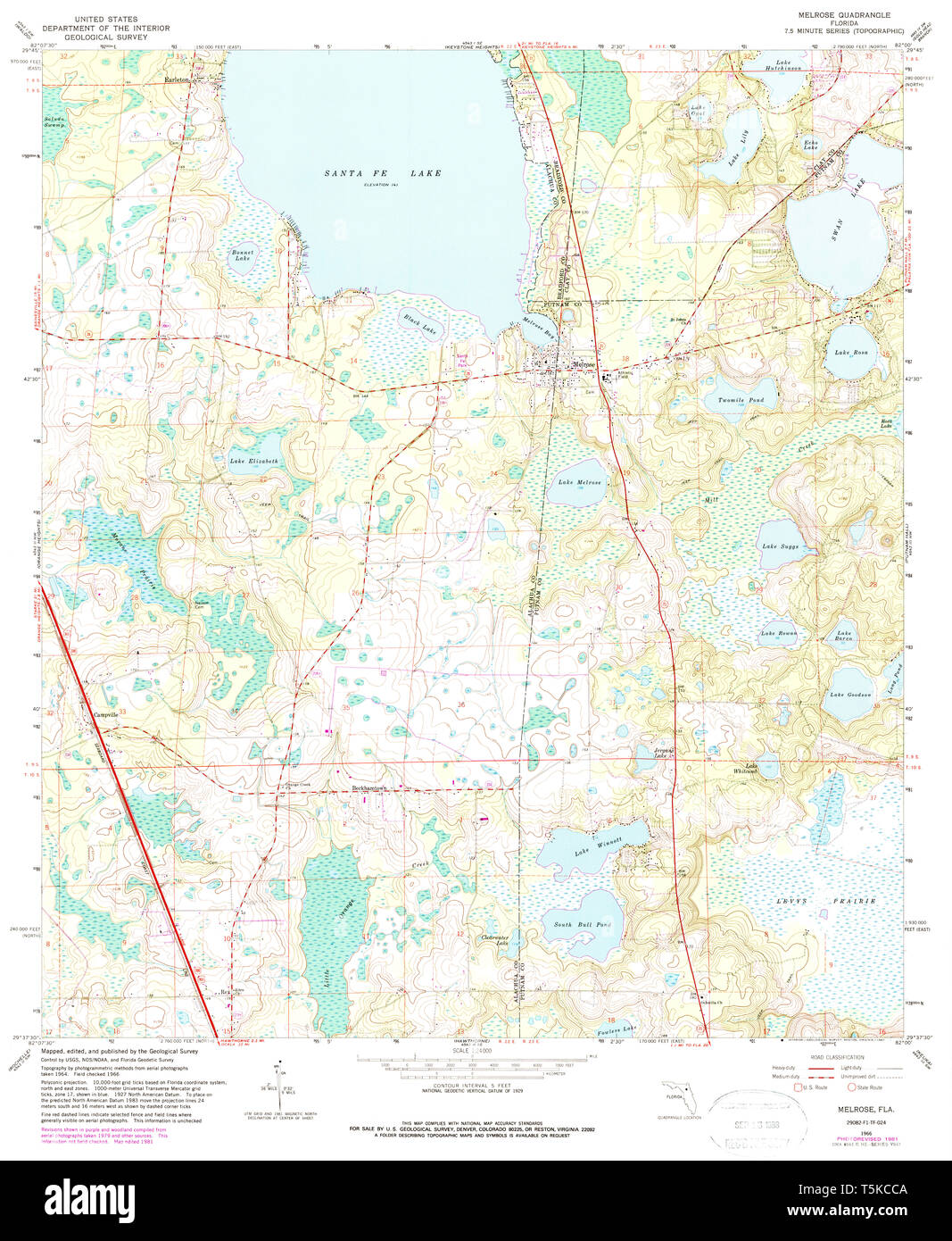 USGS TOPO Map Florida FL Melrose 347452 1966 24000