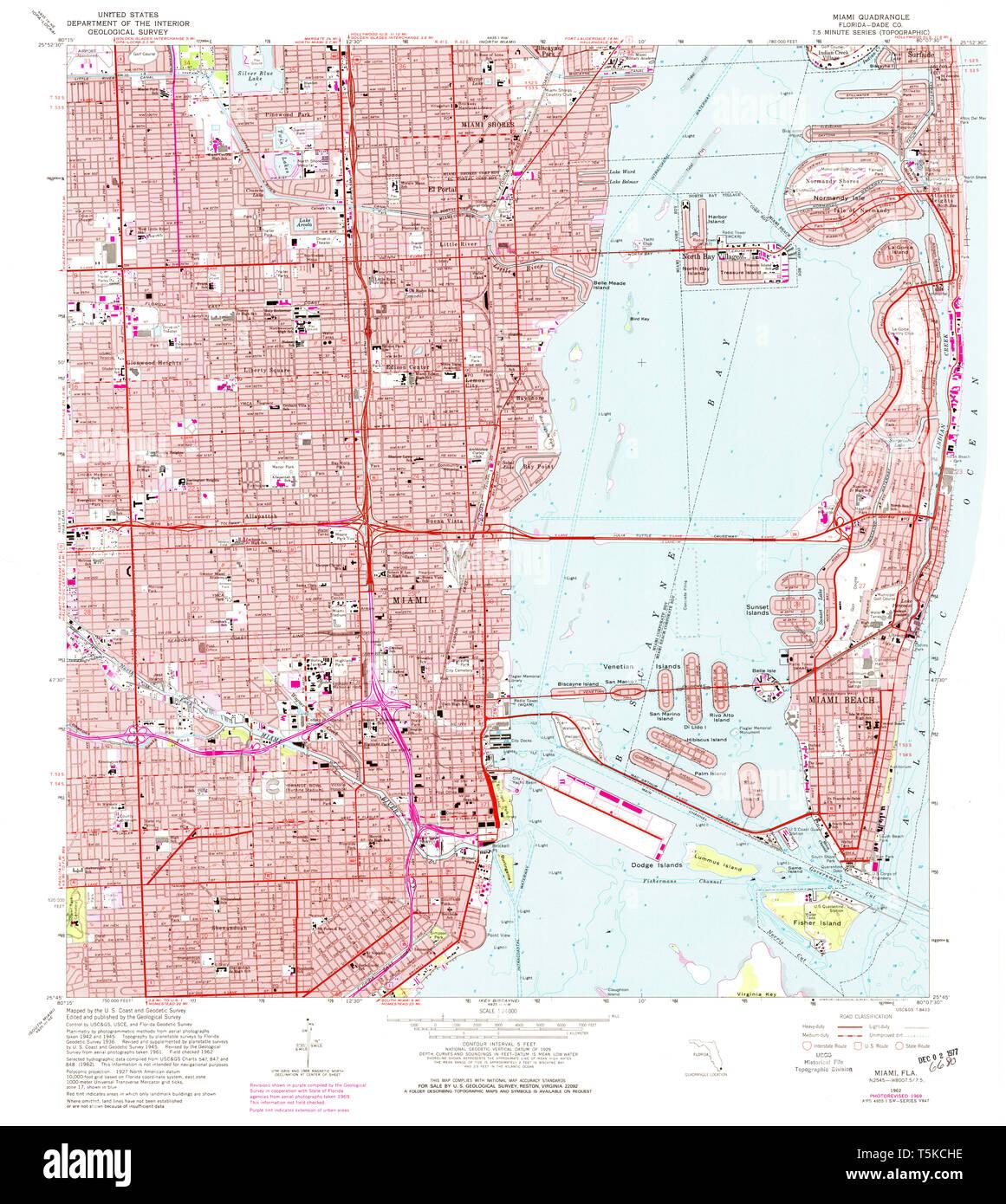 USGS TOPO Map Florida FL Miami 347462 1962 24000 Restoration ...