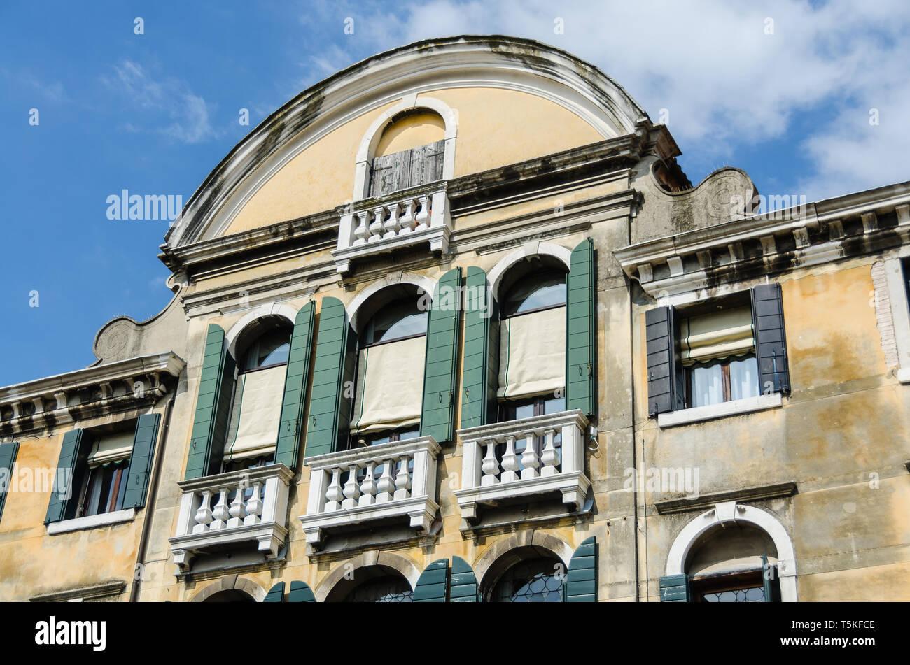 Gebäudefront Venedig - Stock Image