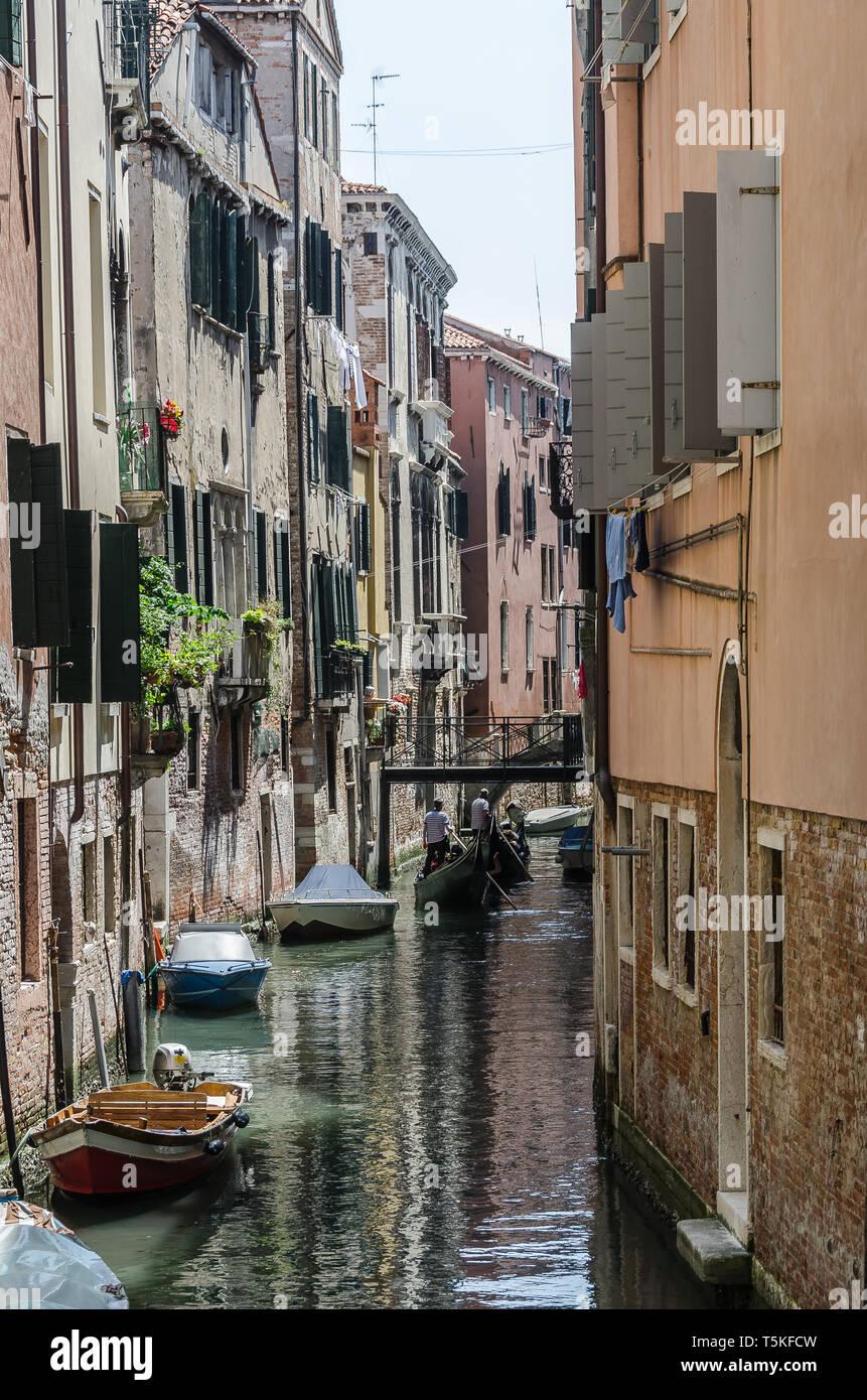 Kanal in Venedig - Stock Image
