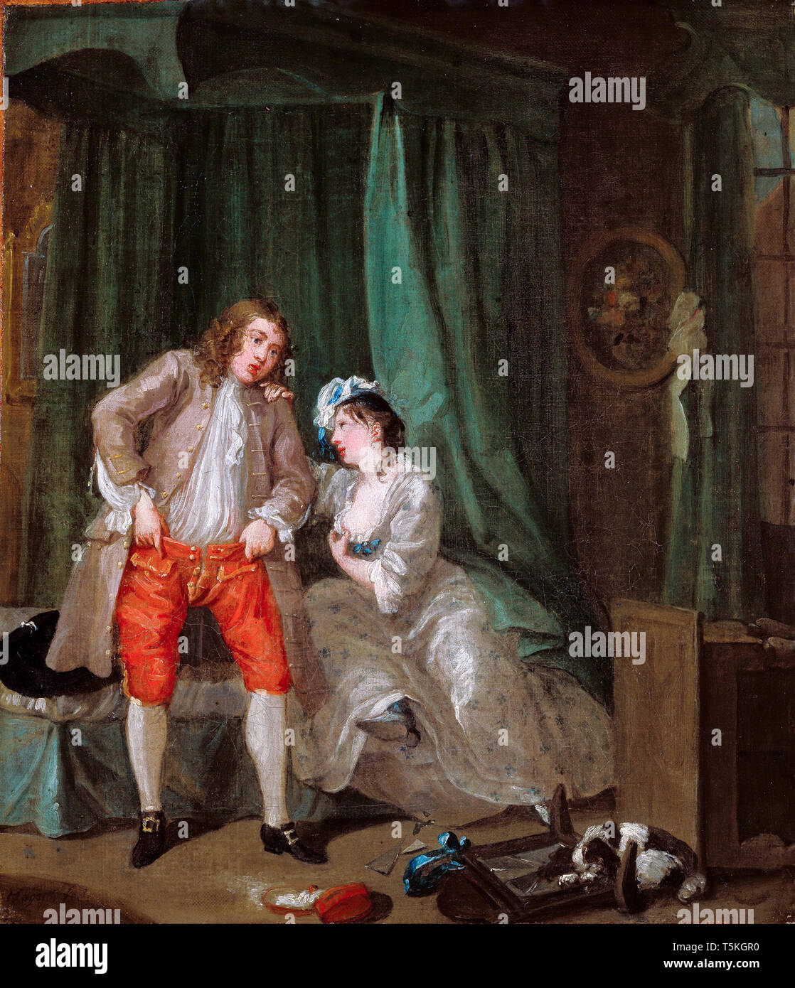 William Hogarth, After, painting, c. 1730 Stock Photo