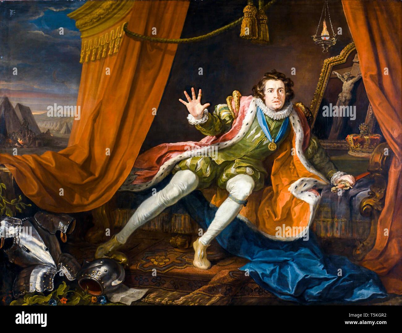 William Hogarth, David Garrick as Richard III, painting, c. 1745 Stock Photo