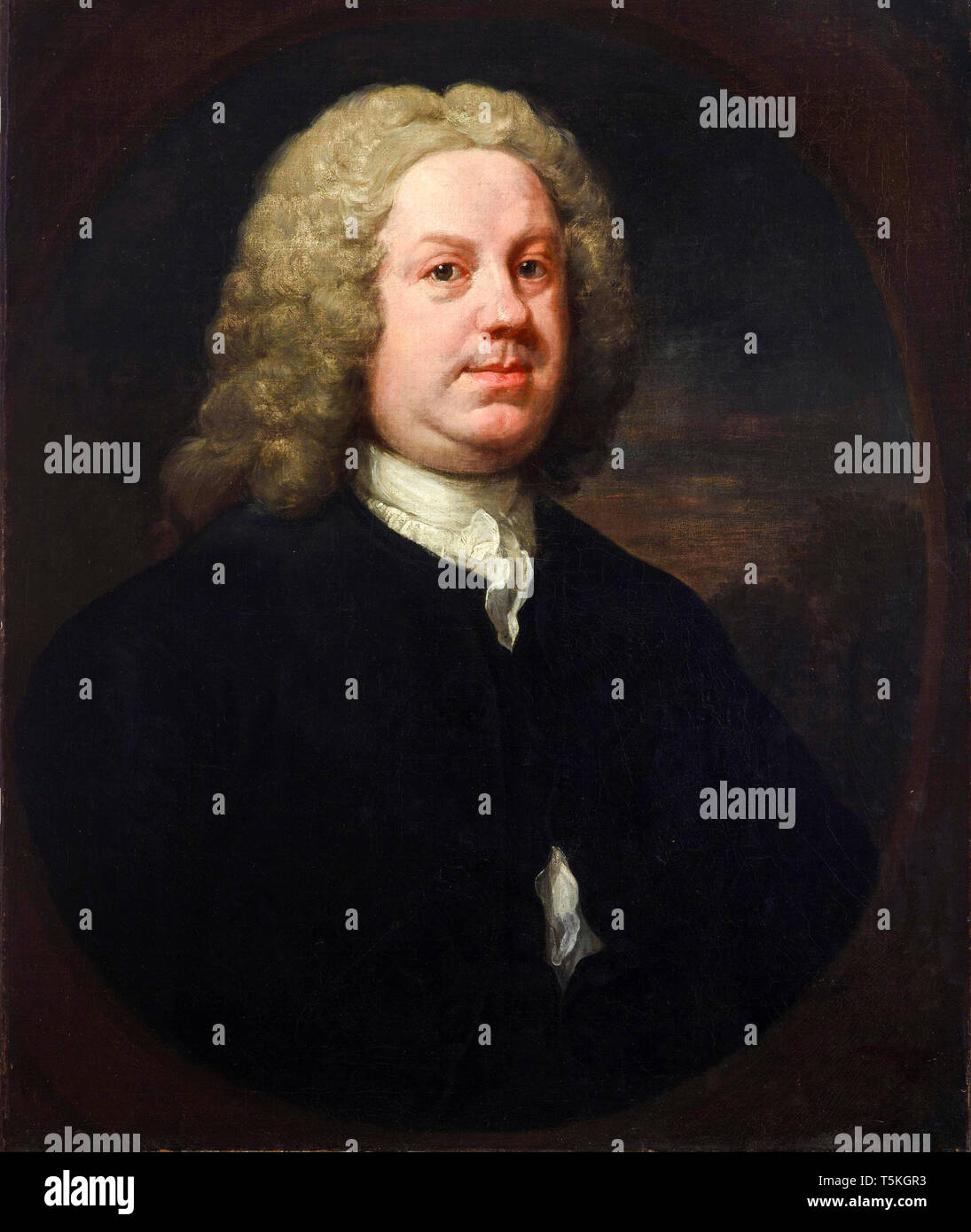 William Hogarth, Dr Benjamin Hoadly MD, portrait painting, early 1740s Stock Photo