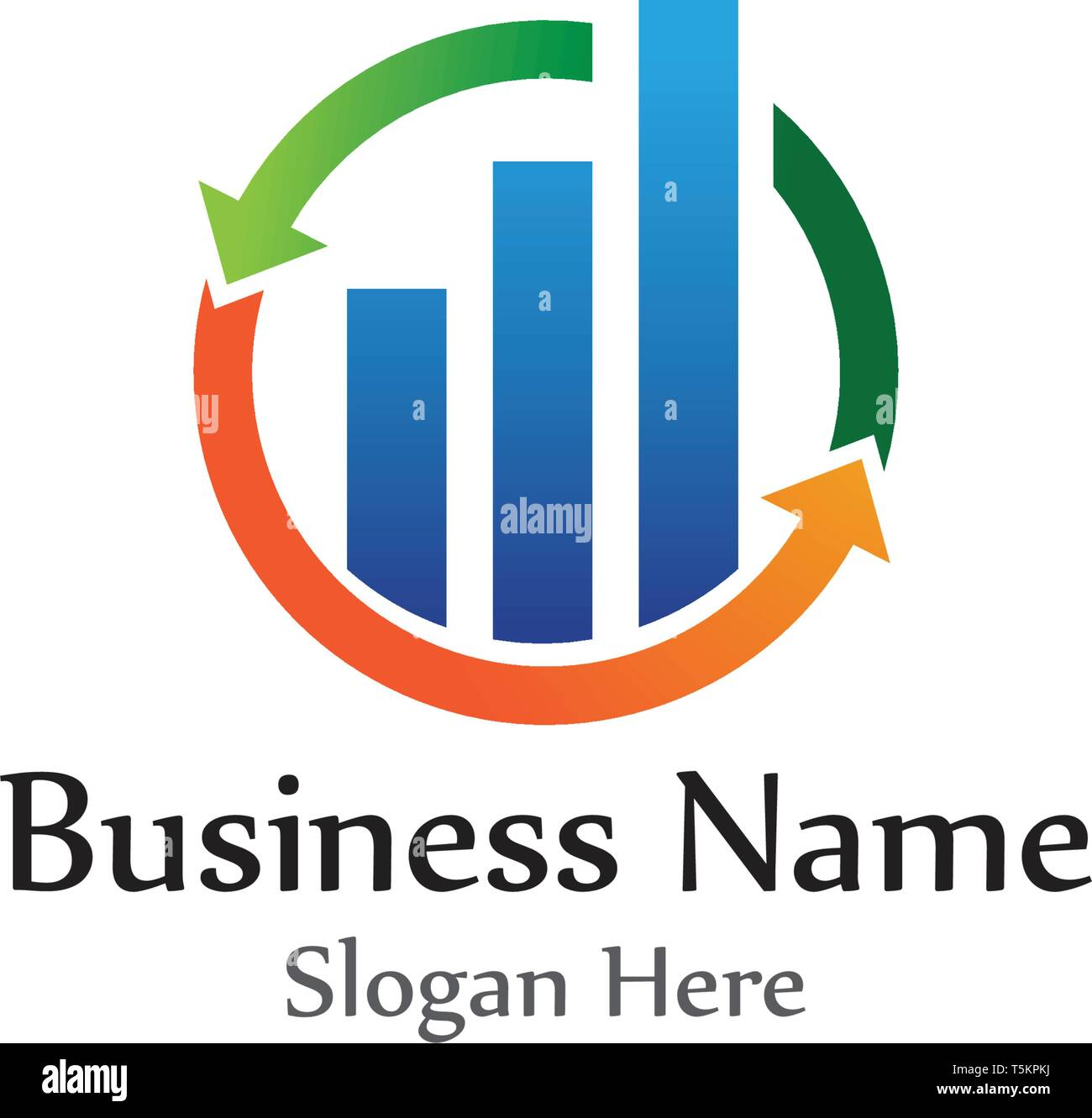 finance logo and symbols vector concept illustration - Stock Image