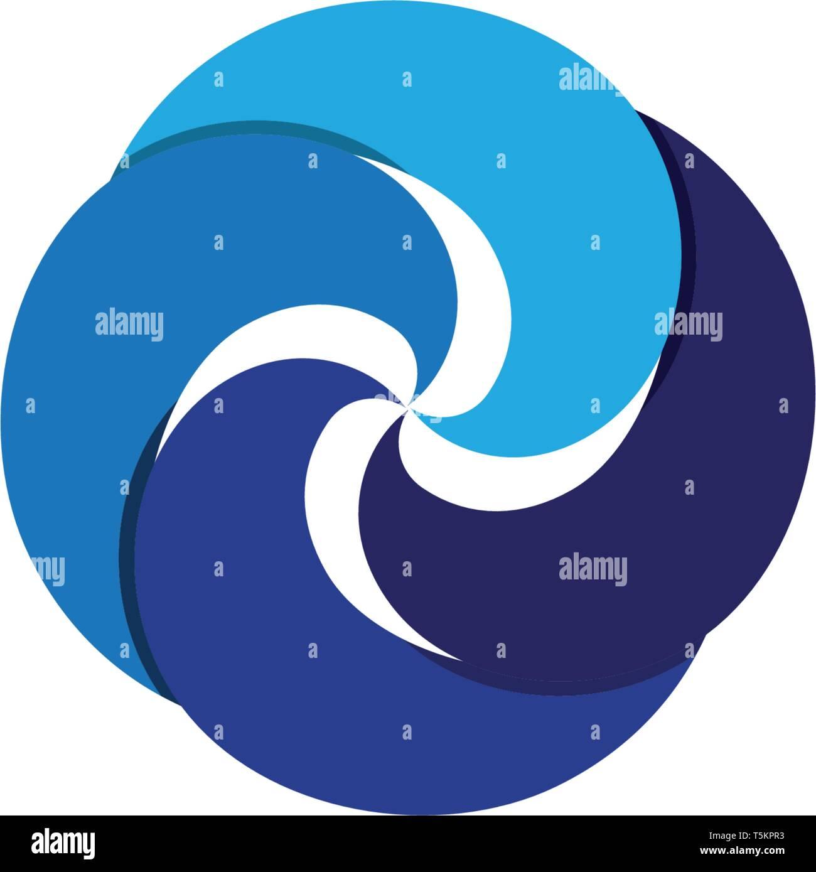 Vortex logo and symbol - Stock Image