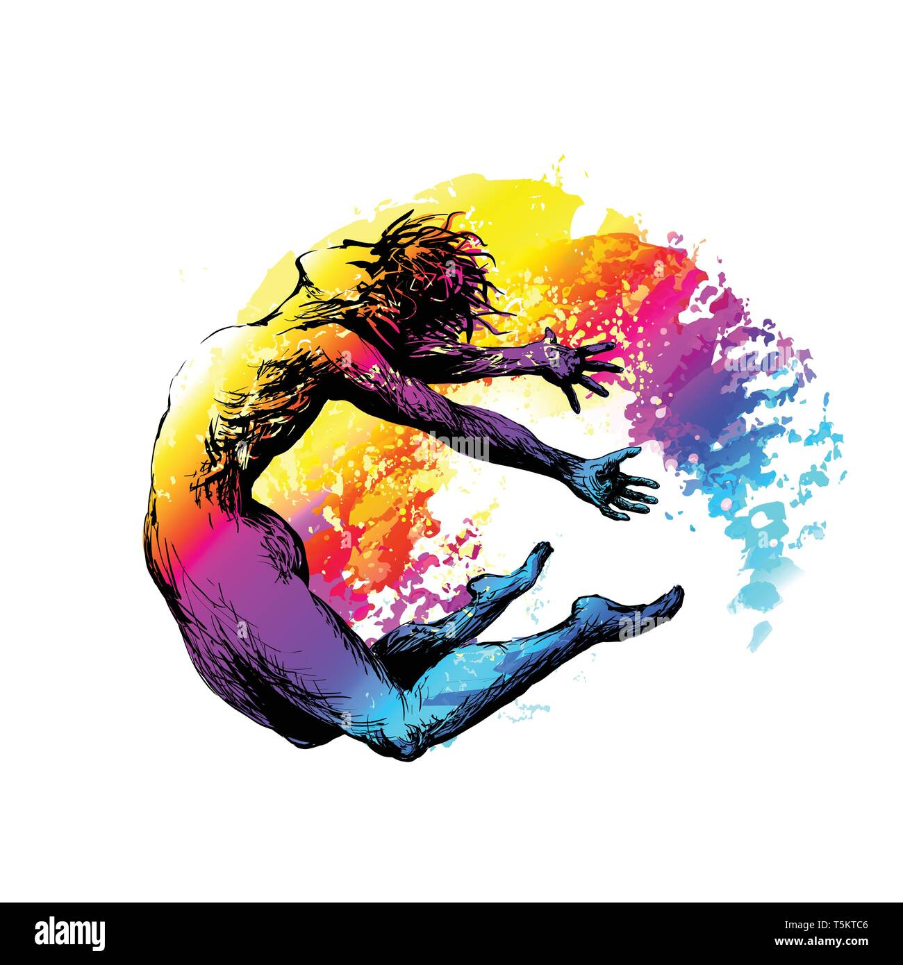 Hip hop break dancer - Stock Vector