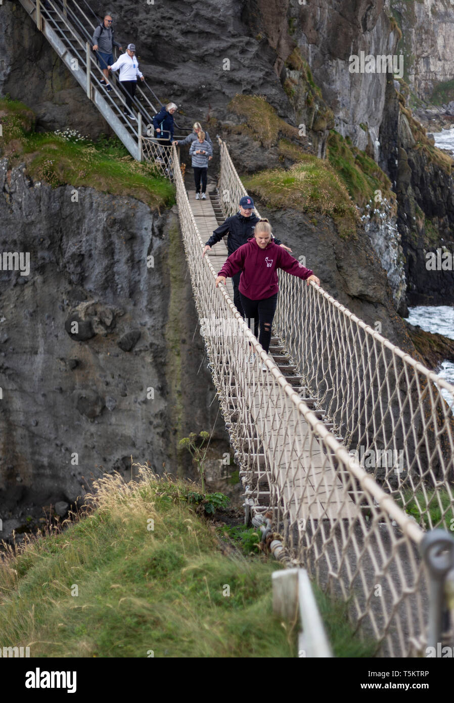 Carrick-a-Rede Rope Bridge, Northern Ireland - Stock Image