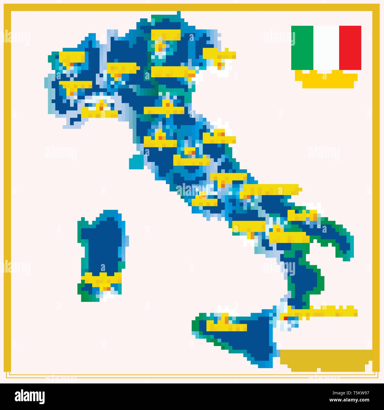 Map Of Italy In Italian.Map Of Italy With Infographic Illustration With Italian Infographic