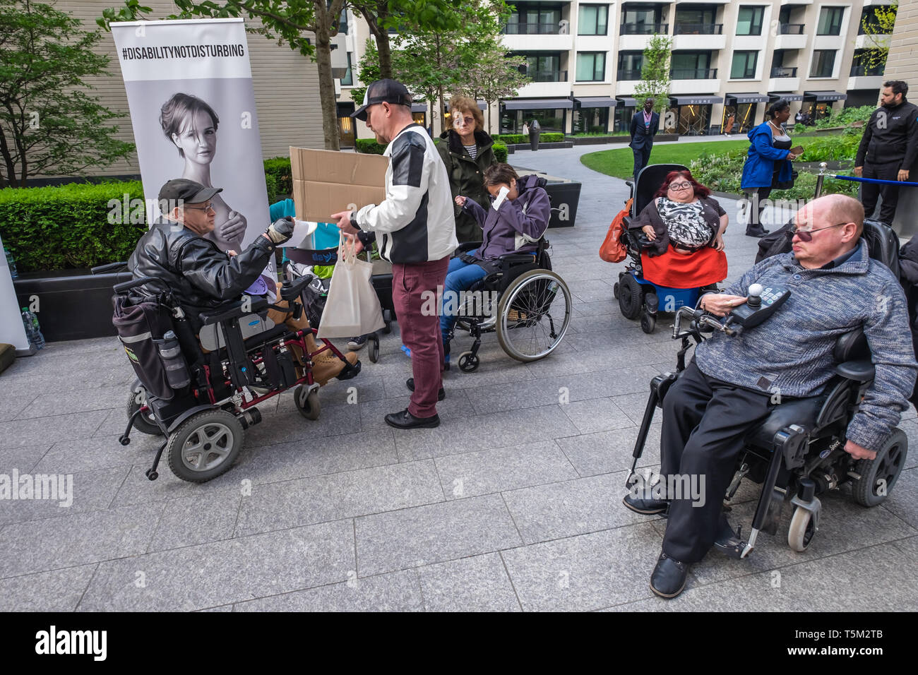 London, UK  25 April 2019  Disabled People Against Cuts