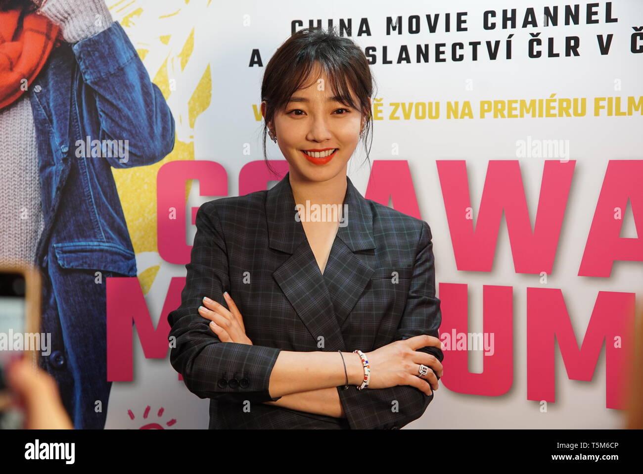 Prague, Czech Republic  25th Apr, 2019  Bai Baihe, actress