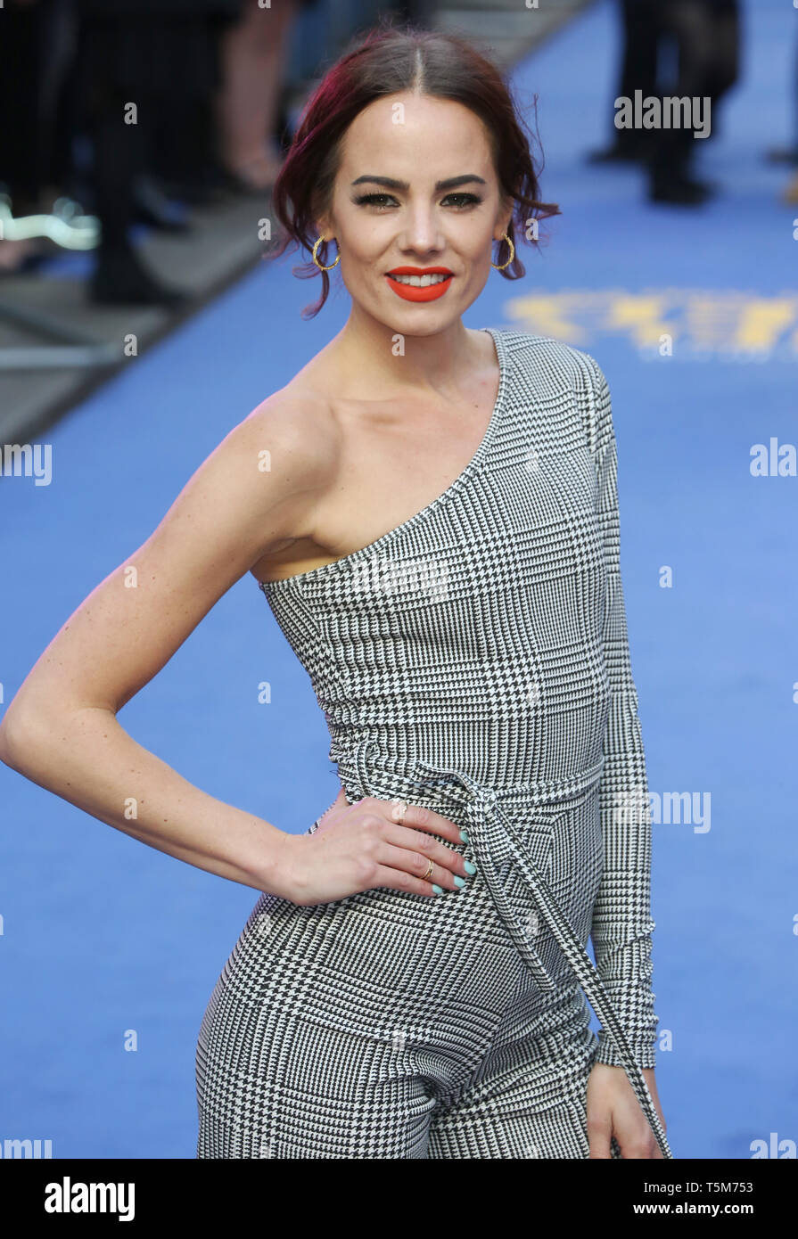 Emma Conybeare attends the European Premiere of Extremely Wicked, Shockingly Evil and Vile at The Curzon Mayfair in London - Stock Image
